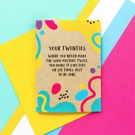 Bettie Confetti 'Your Twenties - Same Mistake' Card